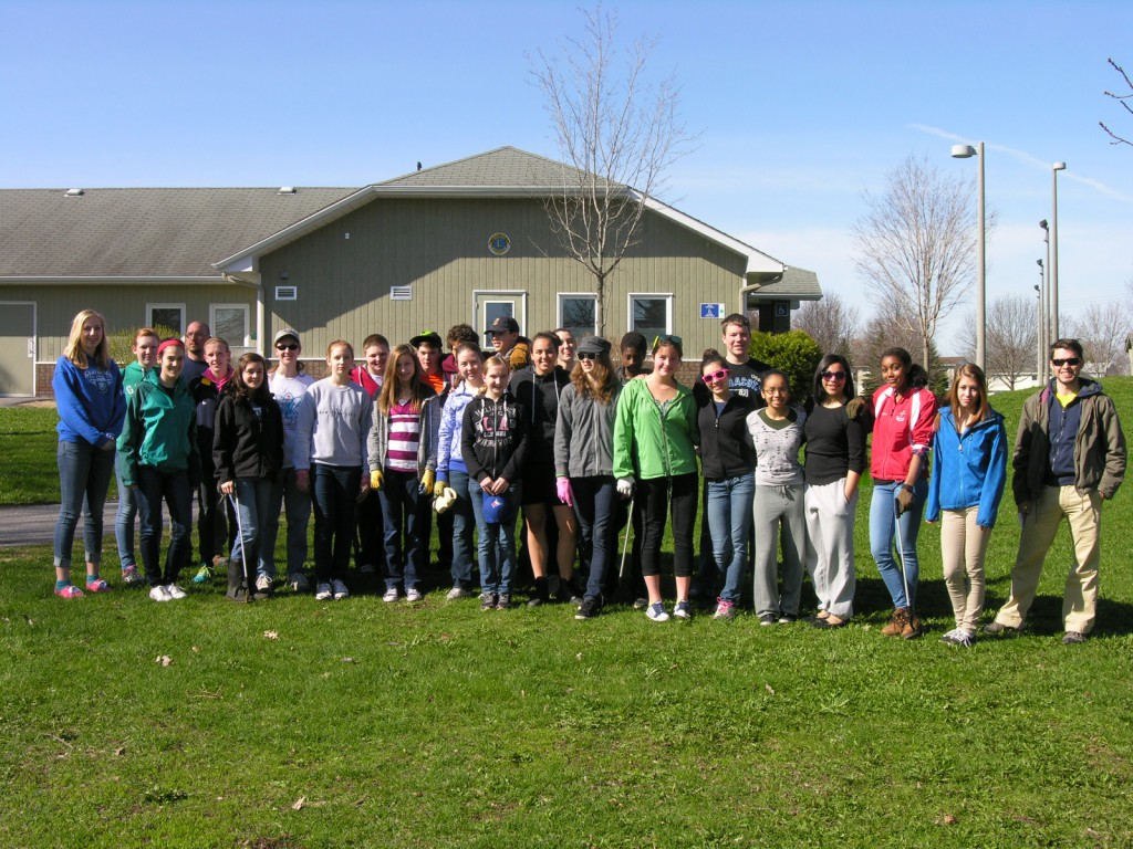 May 7th - A big Thank You to students (morning shift) from Redeemer High School for cleaning up our community.