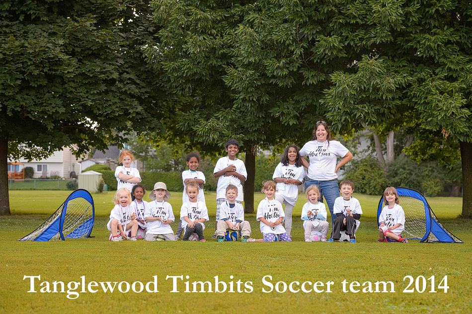 Tanglewood Timbits Soccor Team 2014